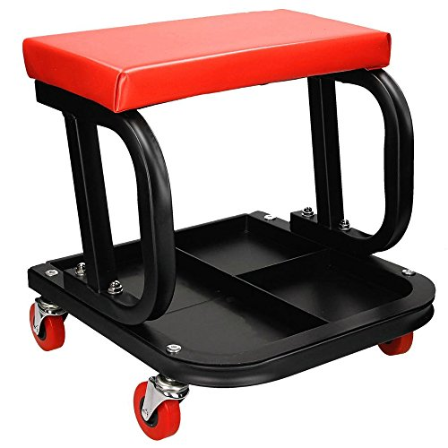 ecd germany werkstatthocker werkstattsitz rollwagen mit werkzeugablage max 150 kg. Black Bedroom Furniture Sets. Home Design Ideas